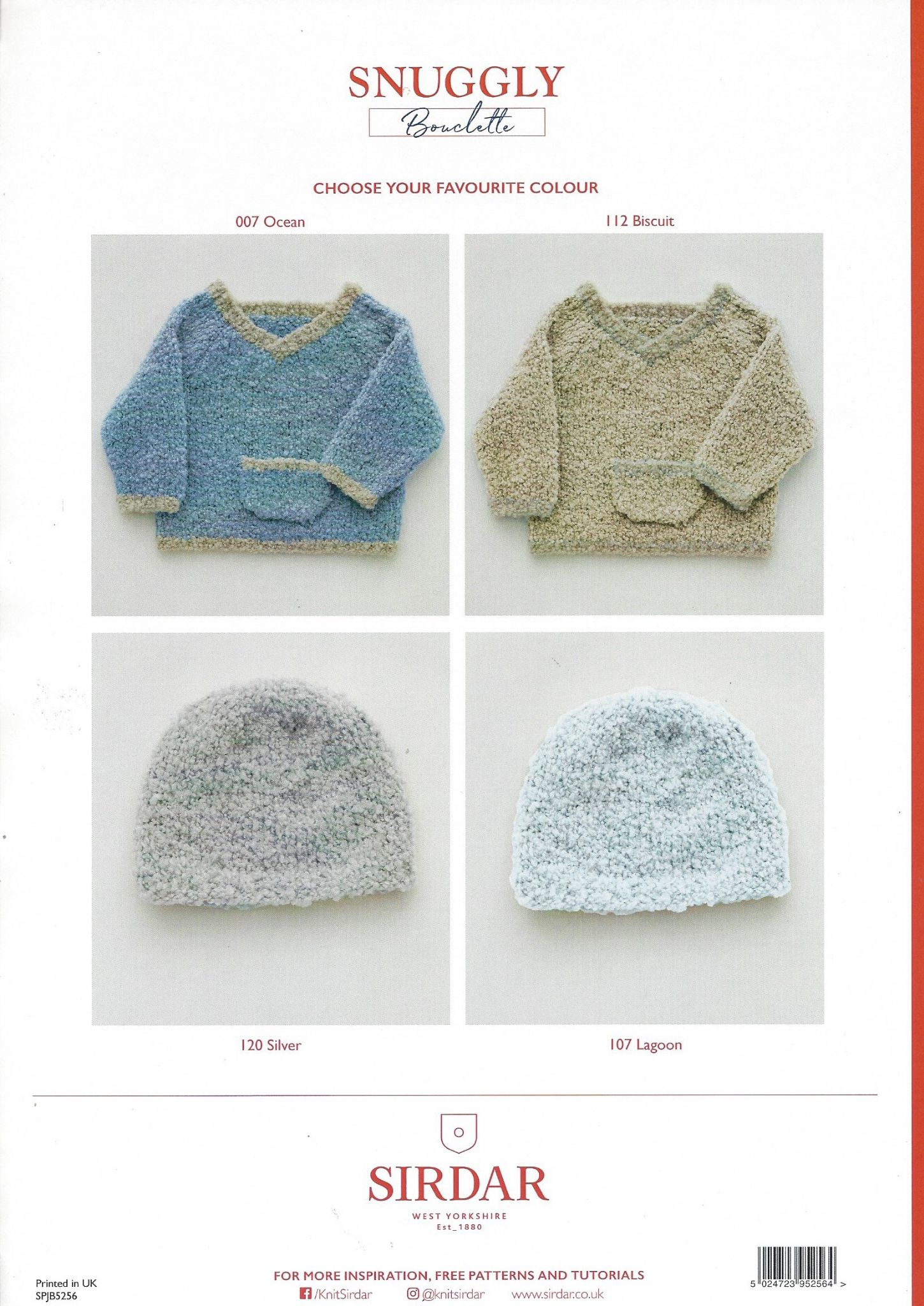 Sirdar Snuggly Bouclette Knitting Pattern Booklet - 5256 Hat